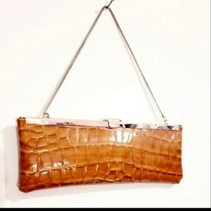 Steve Madden Tan & Silver Patent leather Bag